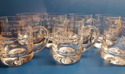 Bubble Base Engraved Tankards